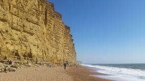 Dorset klippor, sikt i solig dag Arkivbild