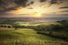Dorset landskap arkivbild