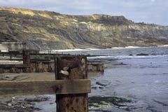 Dorset, Lyme Regis plaża - obrazy stock