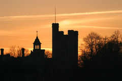 Dorset Skyline 1. Skyline taken at Wimbourne Minster, Dorset stock photo