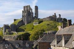 Corfe Castle in Dorset Stock Images