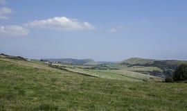 Dorset - weiden en hemel royalty-vrije stock foto's
