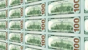 Dorso de la nueva 100 opinión de los billetes de dólar 3d Fotos de archivo libres de regalías