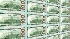 Dorso de la nueva 100 opinión de los billetes de dólar 3d Imagen de archivo libre de regalías