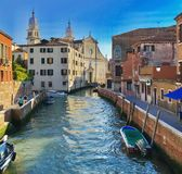 Dorsoduro,威尼斯,意大利 库存照片