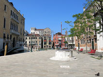 Square in Dorsoduro, Venice Royalty Free Stock Images