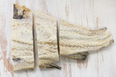 dorsz ryba solił obraz stock