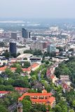 Dortmund, Germany. Dortmund city aerial view - urban area of Ruhrgebiet in Germany Royalty Free Stock Image