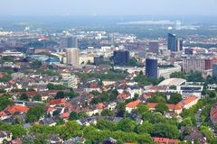 Dortmund city. Aerial view - urban area of Ruhrgebiet in Germany Stock Photo