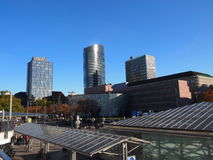 Dortmund City Centre, Germany. The center of Dortmund seen from the train station Royalty Free Stock Photo