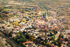 Dortmund Duitsland van hierboven Stock Fotografie