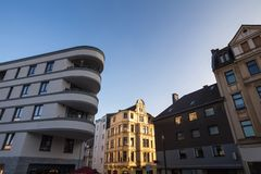 Dortmund germany city in winter. Dortmund germany cityscape in winter royalty free stock images