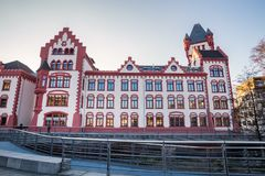 Dortmund germany city in winter. Dortmund germany cityscape in winter stock photos