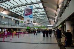 Dortmund, Germany - December 13, 2017: Airport Terminal. Dortmund Airport DTM stock image
