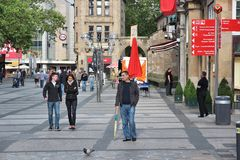 Dortmund. GERMANY - JULY 16, 2012: People visit the Old Town in , Germany. 2011 was the record year for growing  tourism with 594,712 visitors Stock Photography