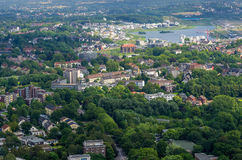 Dortmund. GERMANY - JULY 13: View from Florian Tower  July  13, 2014, in , Germany Royalty Free Stock Photo