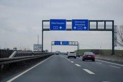 Dortmund Niemcy, Grudzień, - 14, 2018: Drogowy ruch drogowy na niemieckim autobahn 44, autobahn 1, autobahn 2 obraz stock