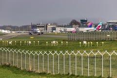 Dortmund airport in dortmund germany. Dortmund, North Rhine-Westphalia/germany - 08 04 19: dortmund airport in dortmund germany royalty free stock image
