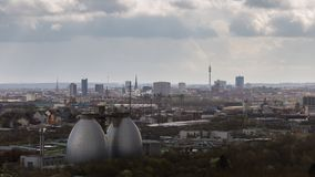 Dortmund, seen from Deusenberg, Germany stock photos