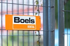 Boels rental sign in dortmund germany stock photos