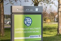 Dortmund airport sings in dortmund germany stock photography