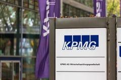 Dortmund, North Rhine-Westphalia/germany - 22 10 18: kpmg sign in dortmund germany. Dortmund, North Rhine-Westphalia/germany - 22 10 18: an kpmg sign in dortmund stock photo