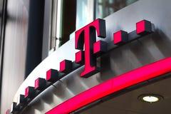 Telekom sign in dortmund germany. Dortmund, North Rhine-Westphalia/germany - 22 10 18: telekom sign in dortmund germany royalty free stock image