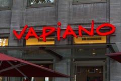 Dortmund, North Rhine-Westphalia/germany - 22 10 18: vapiano sign in dortmund germany royalty free stock images