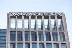 Volkswohl bund insurance sign in dortmund germany stock photos