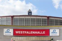 Dortmund, North Rhine-Westphalia/germany - 22 10 18: westfalenhalle dortmund sign in dortmund germany. Dortmund, North Rhine-Westphalia/germany - 22 10 18: an royalty free stock image