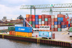 Dortmund river port royalty free stock photos