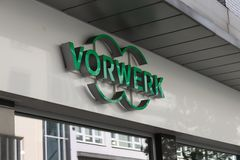 Dortmund, Ruhr Area, North Rhine Westphalia ,Germany - April 16 2018: Vorwerk company sign and logo at store stock photography