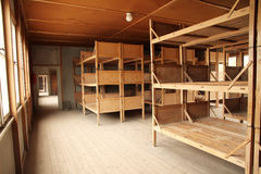 Dortoir dans le camp de concentration de Dachau Images stock