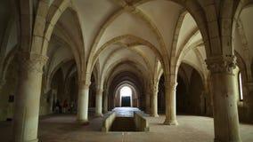 Dortoir de monastère d'Alcobaca banque de vidéos
