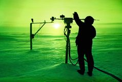 dorwali bieguna północnego słońce Fotografia Stock