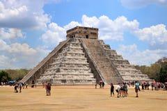 dorwali 2007 castillo chichen itza el pierwszy Meksyku jednego światła światła słonecznego cudów świata Yucatan Fotografia Stock