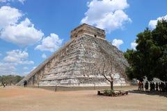 dorwali 2007 castillo chichen itza el pierwszy Meksyku jednego światła światła słonecznego cudów świata Yucatan Zdjęcia Royalty Free
