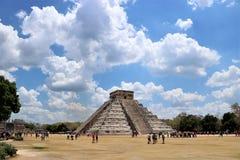 dorwali 2007 castillo chichen itza el pierwszy Meksyku jednego światła światła słonecznego cudów świata Yucatan Obrazy Stock