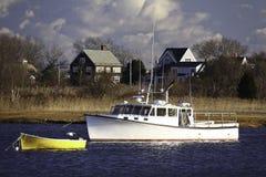dory βαρκών σπίτια αλιείας τη&sigma Στοκ Φωτογραφίες