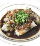 Dory Fish Cutlet served in Black Sauce Gravy Stock Photography