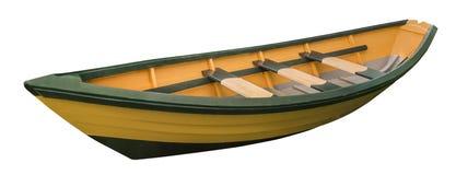 Dory geïsoleerde roeiboot, Stock Foto's