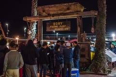 Dory van New Port Beach de Markt van Vlootvissen Stock Foto