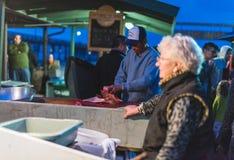 Dory van New Port Beach de Markt van Vlootvissen Royalty-vrije Stock Foto
