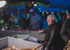 Dory van New Port Beach de Markt van Vlootvissen Stock Afbeelding