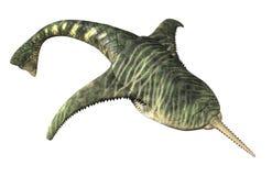 Doryaspis - peixe pré-histórico ilustração stock