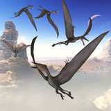 Dorygnathus Flying Reptiles Royalty Free Stock Image