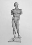 Doryphoros van Polykleitos Stock Afbeelding