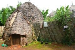 dorze埃塞俄比亚小屋 免版税库存照片