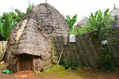 Dorze hut, Ethiopia Royalty Free Stock Photo