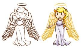 Dos ángeles ilustración del vector
